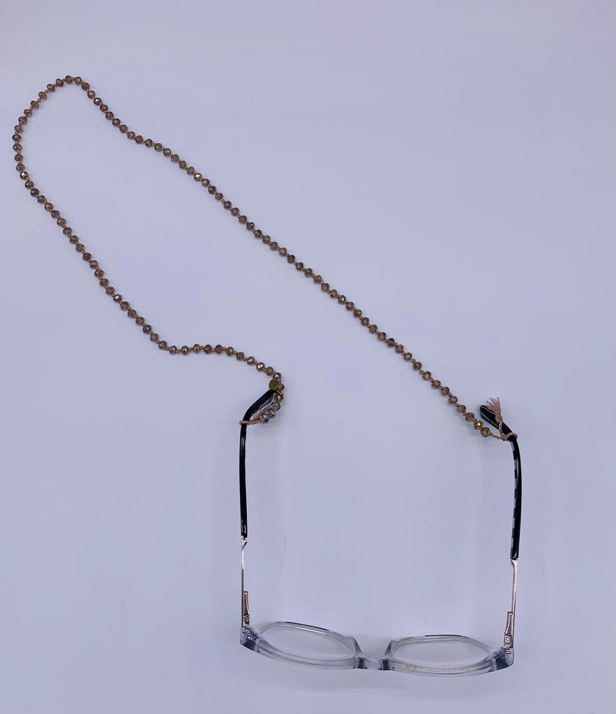Bling Bling (Sun)Glasses Chain - Beige