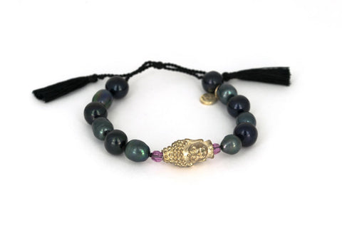 Copy of Black pearls with gold buddha