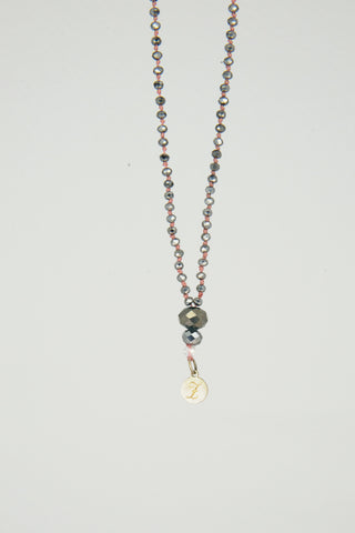 Bling Bling Necklace black/silver without Buddha