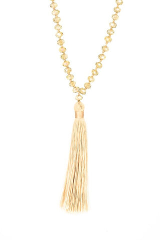 Bling-Bling Necklace Gold/Beige