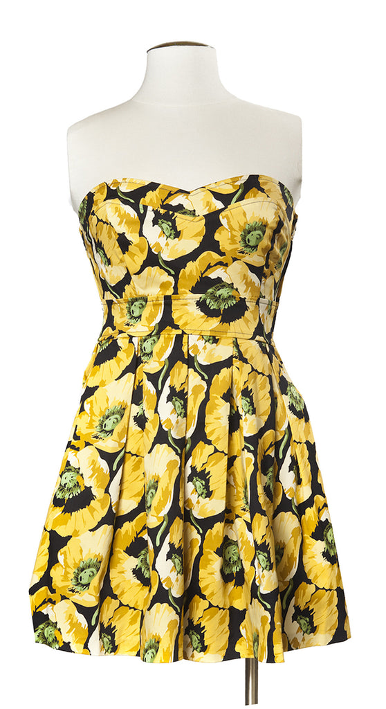 Botanist Bouquet Dress in Mustard