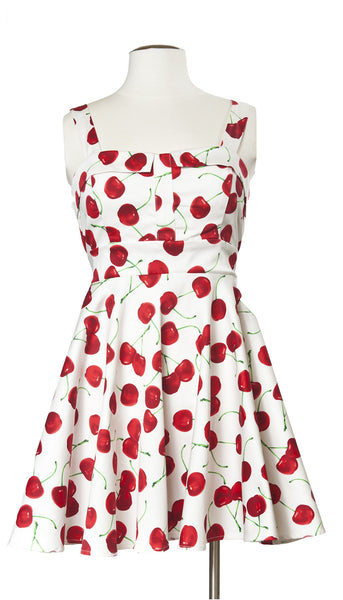 Cherry Possible Dress in White