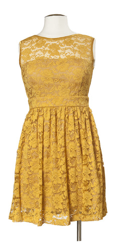 Drinks on the Terrace Dress in Mustard