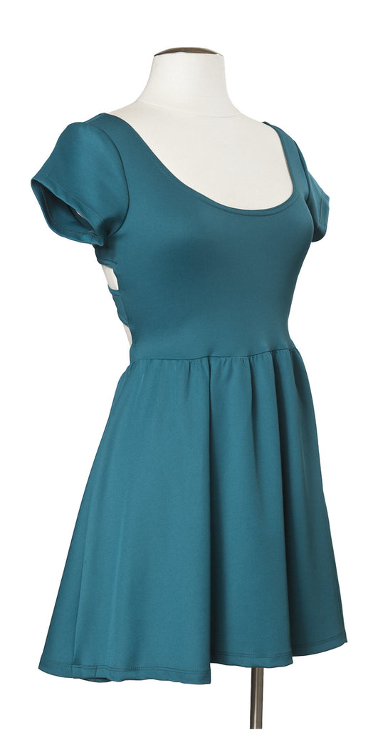Across the Pond Dress in Teal