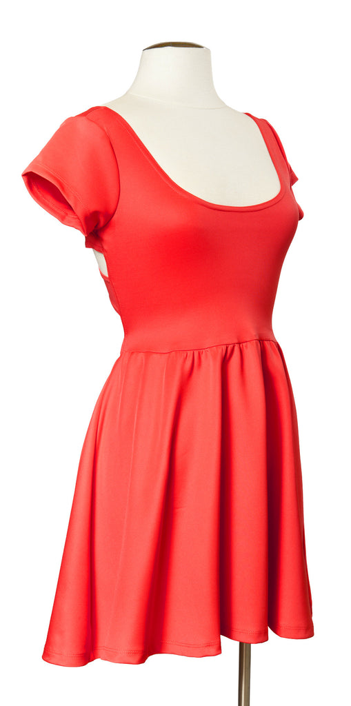 Across the Pond Dress in Coral