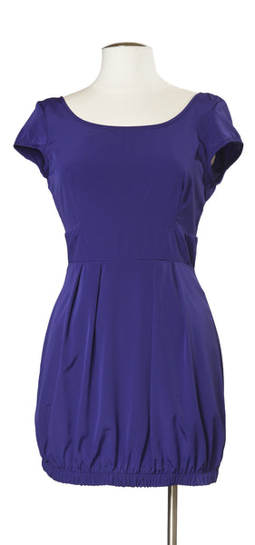 Trendy Tapas Bar Dress in Deep Purple