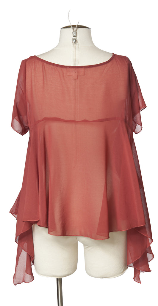 Flowing Tee in Pink Rust