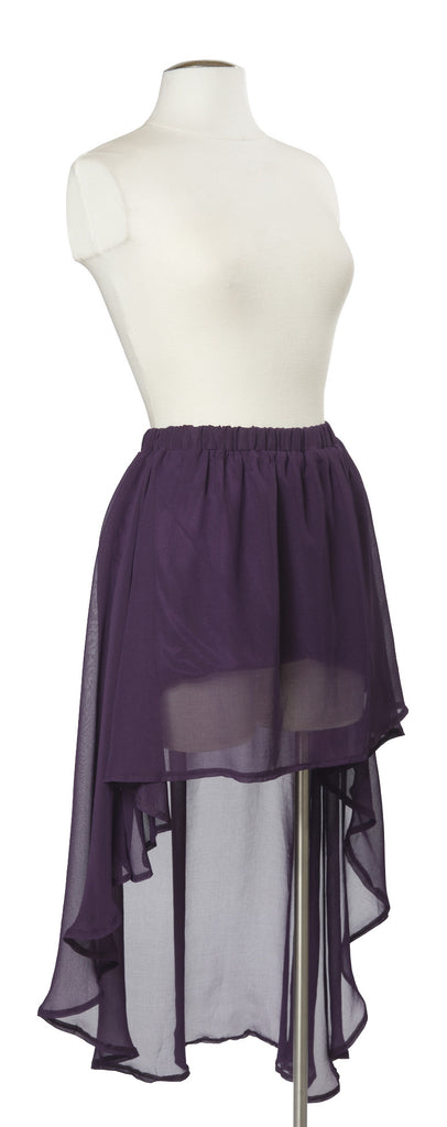 Different Wavelengths Skirt in Plum