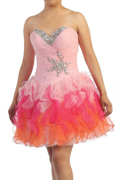 Lucky Star Party Dress in Light Pink