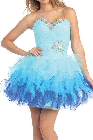 Lucky Star Party Dress in Aqua