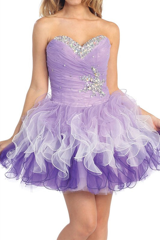 Lucky Star Party Dress in Lavender