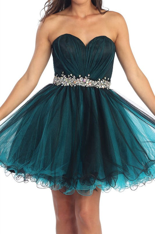 Opening Night Party Dress In Teal Trendy Clothing I Cute Prom