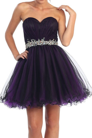 Opening Night Party Dress in Deep Purple