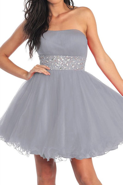 Saturday Soiree Party Dress in Silver
