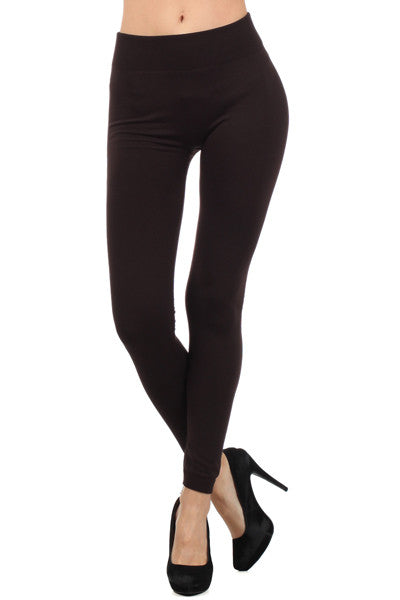 Cozy Fleece Leggings in Black