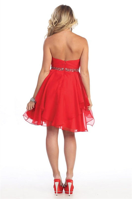 Grand Evening Out Party Dress in Red