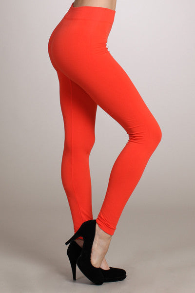 Cozy Fleece Leggings in Red