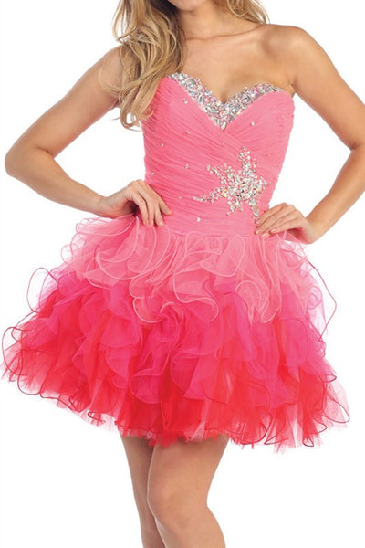 Lucky Star Party Dress in Hot Pink