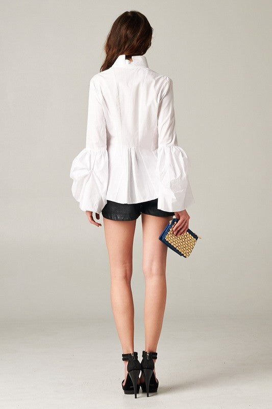 Parisian Chic Blouse in White
