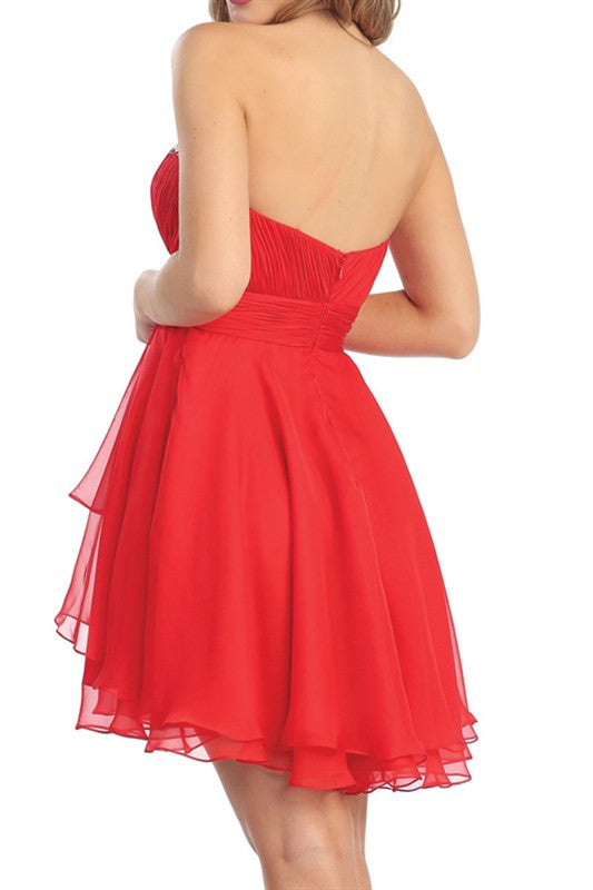 Sweetheart Soiree Party Dress in Red