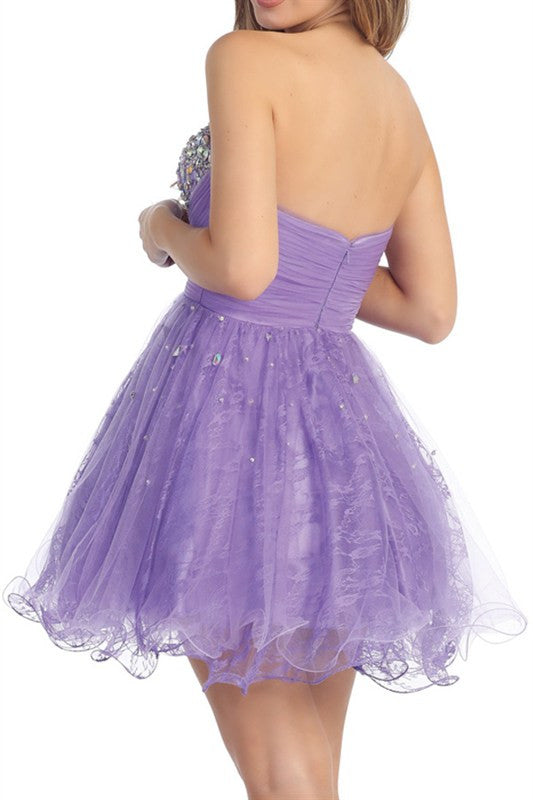 Promenade Pastel Party Dress in Lavender