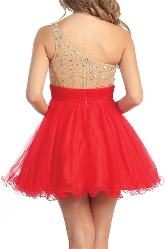 Florence Festivities Party Dress in Red
