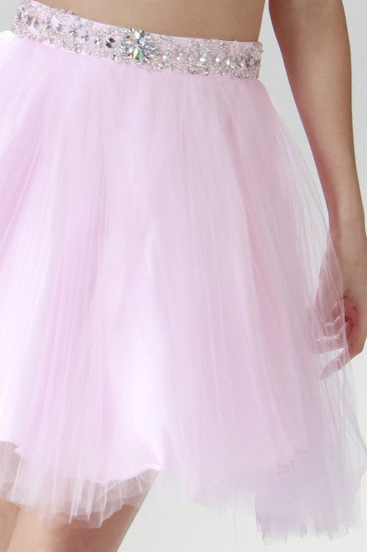 Twinkling Tulle Party Dress in Pink