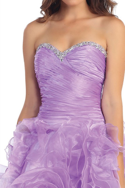 Rosette Reservation Party Dress in Lilac