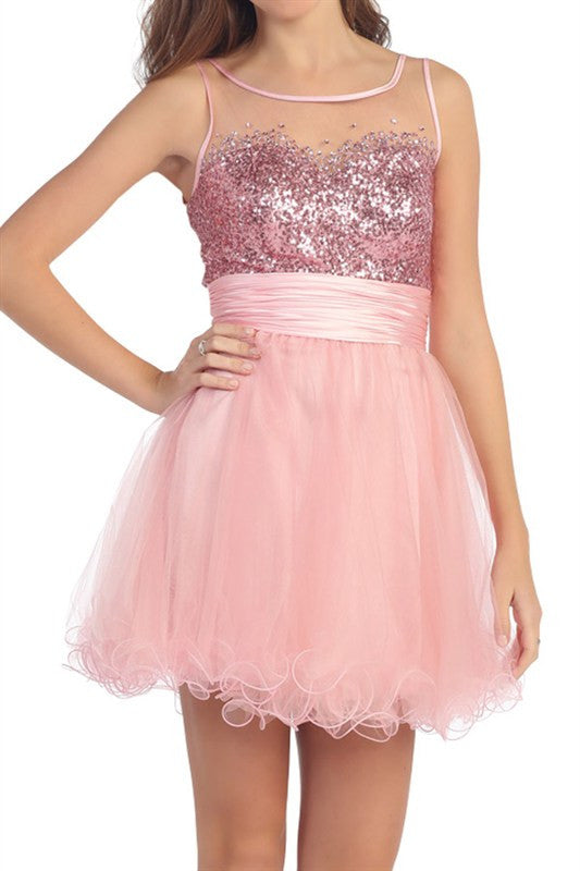First Slow Dance Party Dress in Pink