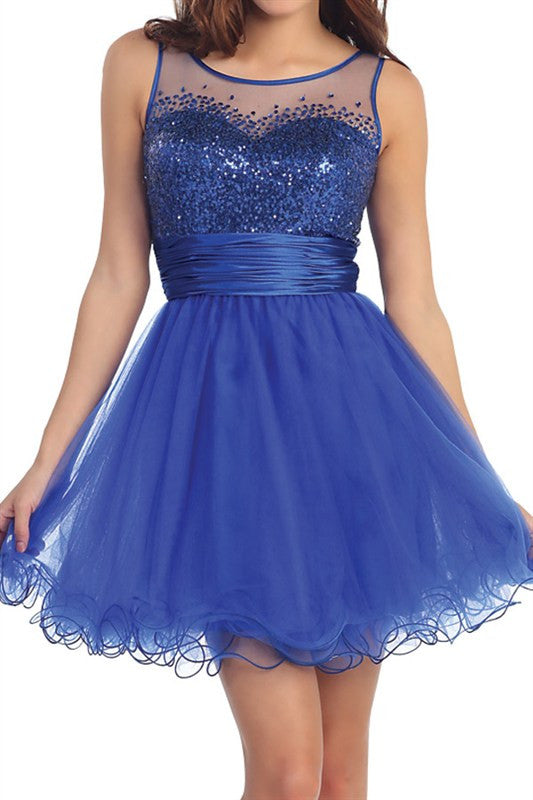 First Slow Dance Party Dress in Blue
