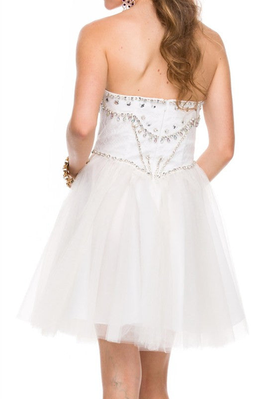 Galactic Gala Party Dress in White
