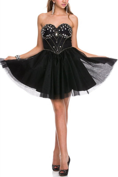 Galactic Gala Party Dress in Black