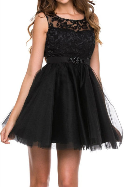Elegant Expectations Party Dress in Black