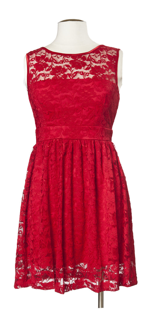 Drinks on the Terrace Dress in Red
