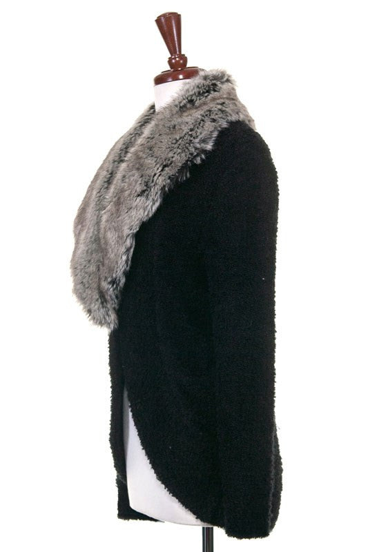 City Strolling Faux Fur Sweater