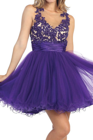 Emboldened Blooms Dress in Purple