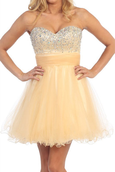 Chandelier Shimmer Party Dress in Gold