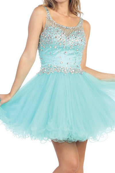 Icicle Invitation Party Dress in Aqua