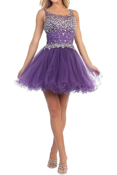 Icicle Invitation Party Dress in Purple