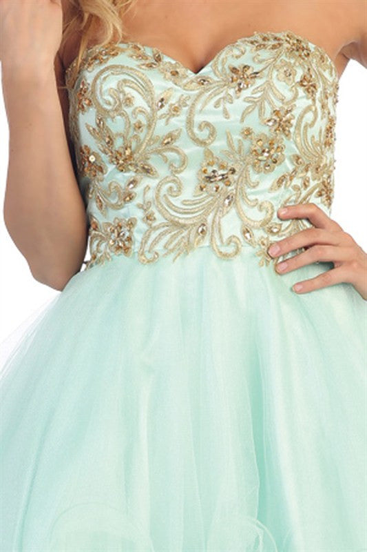 Chandelier Bodice Party Dress White
