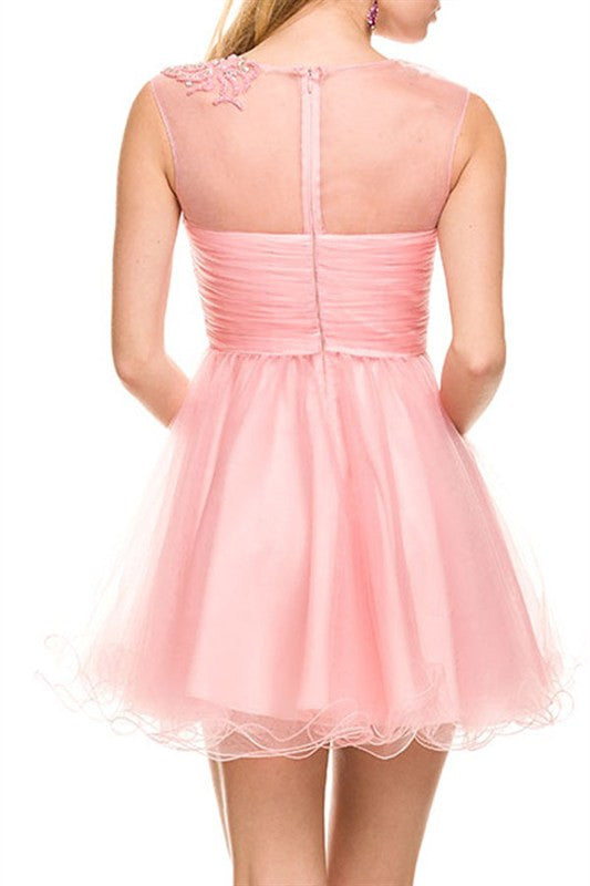 Sherbet Soiree Party Dress in Pink