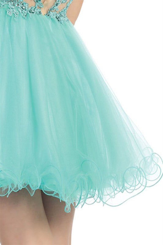 Grandiose Garden Party Dress in Mint