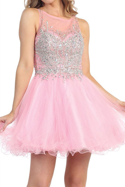 Heart Shaped Box Party Dress in Pink