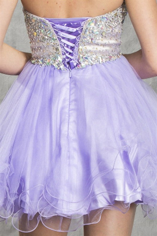 Luxe Lavande Party Dress in Lavender