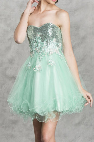 Mint Magnificence Party Dress