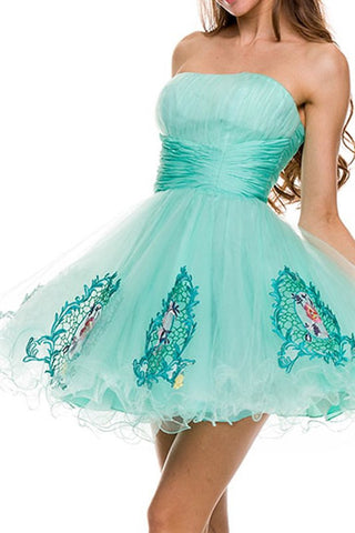 Garden Party Gala Party Dress in Mint
