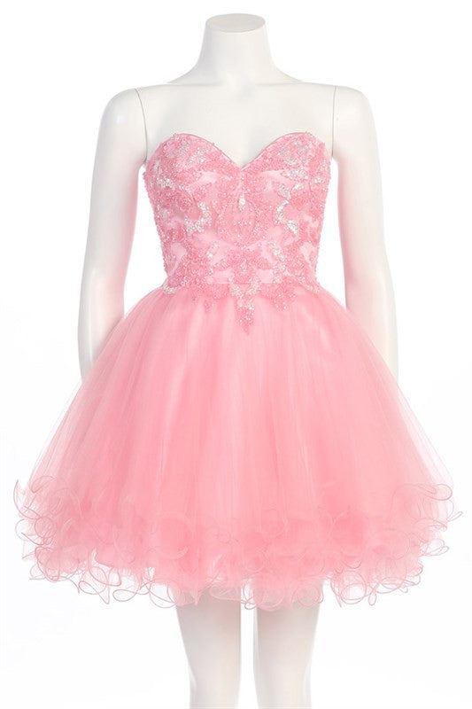 Pastel Paillettes Party Dress In Pink Trendy Clothing I Cute Prom