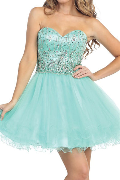 Spring Soiree Party Dress in Mint