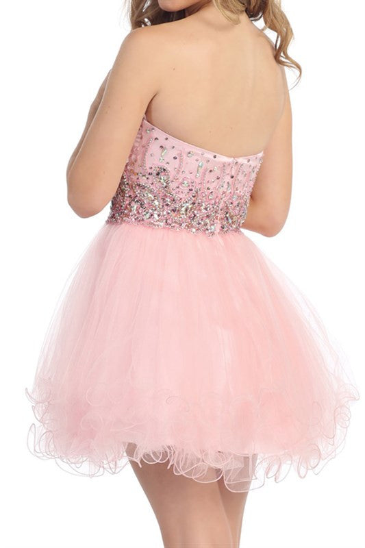 Spring Soiree Party Dress in Pink