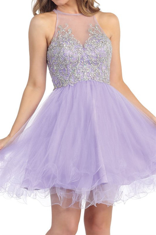 Garden of Grandeur Party Dress in Lavender